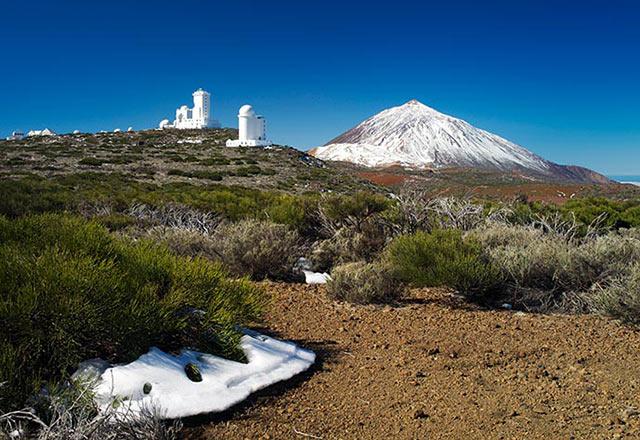Erster Schnee auf dem Teide